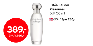 Estée Lauder Pleasures EdP 50 ml 389,- (spar 286,-)