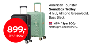 Amarican Tourister Soundbox Trolley 899,-