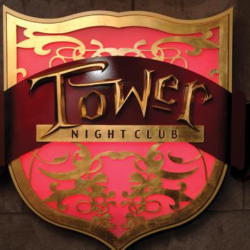 Tower nightclub skilt